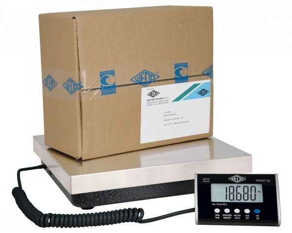 Paketwaage bis 50 kg von Wedo