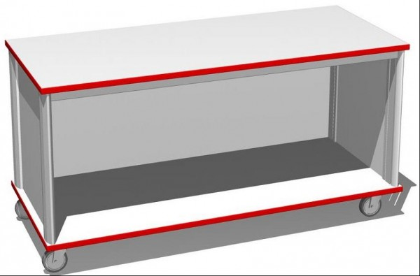 Systemunterbauschrank ohne Flügeltüren 1400 x 600 x 600 mm